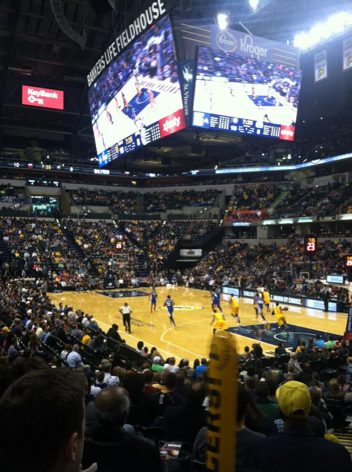 at pacers game